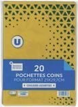 20 POCHETTES COINS U