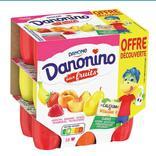 FROMAGE FRAIS PASTEURISE 2,1% MG AUX FRUITS PANACHES DANONINO