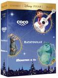COFFRET COCO/ RATATOUILLE/ MONSTRES & Cie