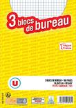 3 BLOCS U 14,8X21 CM 160 PAGES 5X5 NON PERFORES