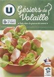 GESIERS DE VOLAILLE CUITS DANS LA GRAISSE DE CANARD U