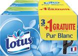 MOUCHOIRS BLANCS LOTUS