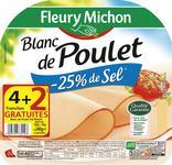 BLANC DE POULET - 25% DE SEL FLEURY MICHON