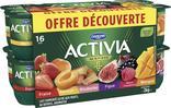 LAIT FERMENTE SUCRE FRUITS PANACHES AU BIFIDUS ACTIVIA OFFRE DECOUVERTE