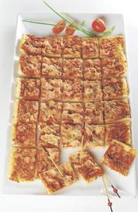 PIZZA 66 TOASTS JAMBON FROMAGE* OU DE CHORIZO ET POIVRONS ROUGES