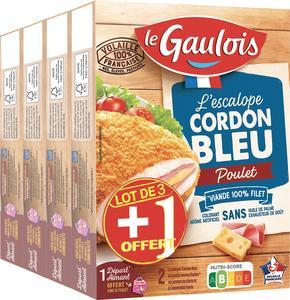 ESCALOPE CORDON BLEU DE POULET OU ESCALOPE CORDON BLEU DE POULET 3 FROMAGES LE GAULOIS