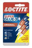 COLLE SUPERGLUE3 LOCTITE UNIVERSAL LIQUIDE 3G x 2 + 1 GRATUIT