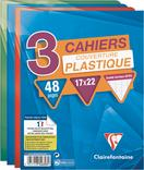 3 CAHIERS CLAIREFONTAINE 17X22CM 48 PAGES 90G