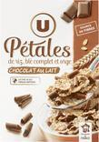 PETALES DE RIZ ET BLE COMPLET COPEAUX DE CHOCOLAT AU LAIT U