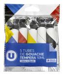 5 TUBES DE GOUACHE 10ML U