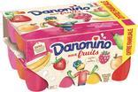 FROMAGE FRAIS AU LAIT PASTEURISE 2,1% MG AUX FRUITS PANACHES DANONINO