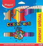 24 CRAYONS DE COULEUR COLOR'PEPS MAPED