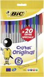 20 STYLOS A BILLE BIC COLORIS ASSORTIS