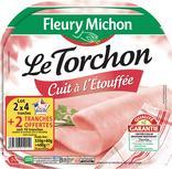 JAMBON LE TORCHON SANS COUENNE CUIT A L'ETOUFFEE FLEURY MICHON