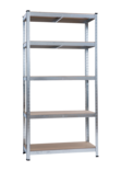 ETAGERE METALLIQUE CHARGE LOURDE 5 PLATEAUX MDF 4MM - 40 x 90 x 180 CM