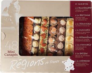 PLATEAU DE 48 MINI CANAPES REGIONS DE FRANCE