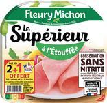 JAMBON CUIT LE SUPERIEUR A L'ETOUFFEE CONSERVATION SANS NITRITE FLEURY MICHON