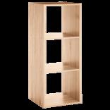 ETAGERE - Format et coloris au choix : 3 cases ou 2 + 2 cases - naturel ou gris clair