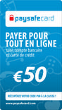 CARTE PREPAYEE PAYSAFECARD 5O€