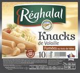KNACKS DE VOLAILLE FUMEES AU BOIS DE HETRE REGHALAL