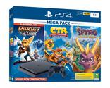 PACK CONSOLE PS4 SLIM 1TO F BLACK + Ratchet & Clank Hits + Crash Team Racing + Spyro SONY PLAYSTATION