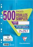 FEUILLES SIMPLES OU COPIES DOUBLES CLAIREFONTAINE PERFORÉES