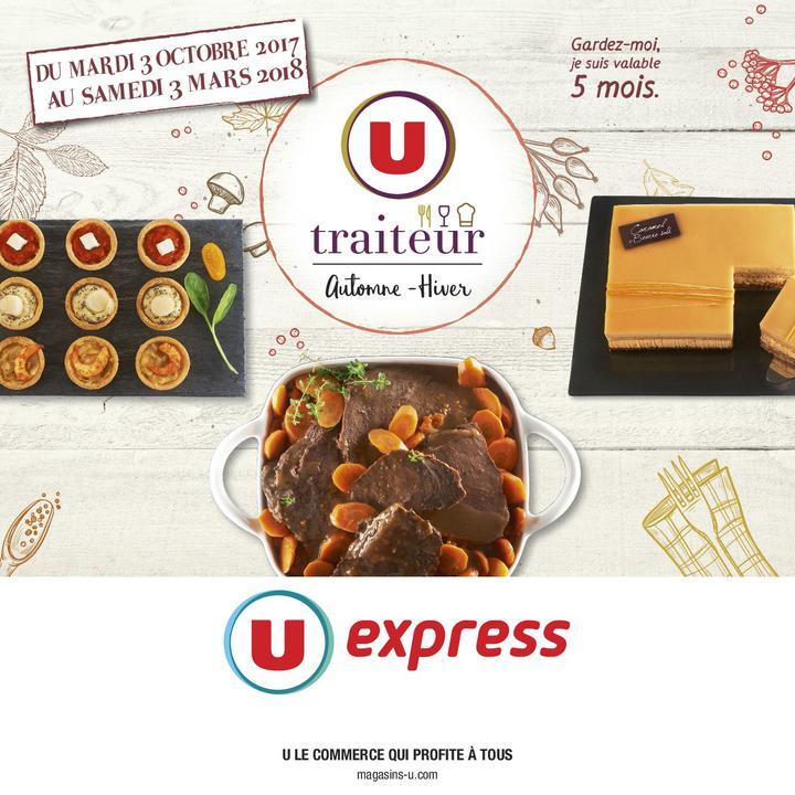 Catalogue U EXPRESS LA CARTE TRAITEUR AUTOMNE HIVER