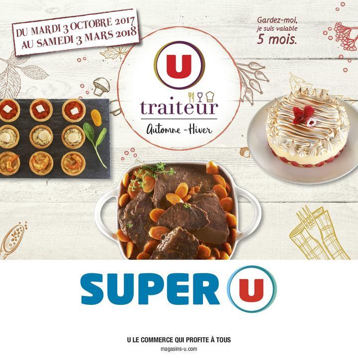 Catalogue Super U LA CARTE TRAITEUR AUTOMNE HIVER