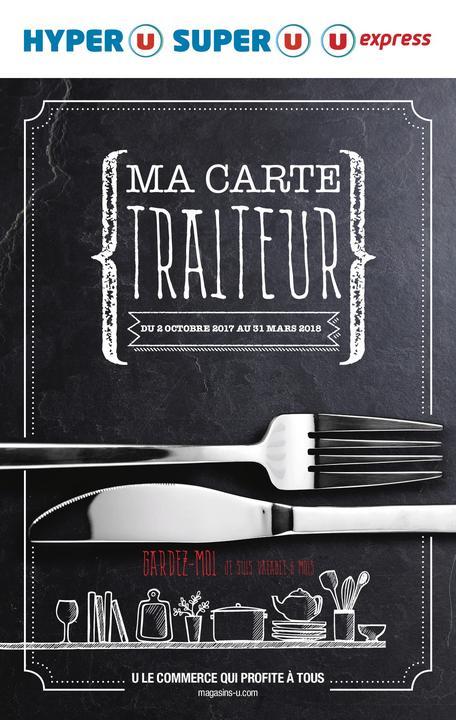 Catalogue Hyper U MA CARTE TRAITEUR