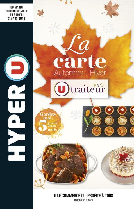 Catalogue Hyper U LA CARTE TRAITEUR AUTOMNE HIVER